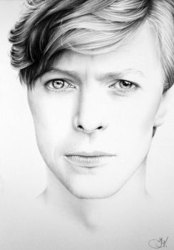 David Bowie Minimal Portrait by IleanaHunter