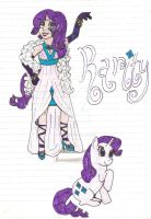 MLP- Rarity Humanized by NaziViolinist