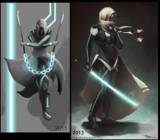 Assassin Lady Before and After by GloriousRyan