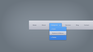 Drop Down Menu Free .PSD by emrah-demirag