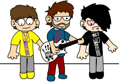 Shirts and guitar graphics by BinkToons