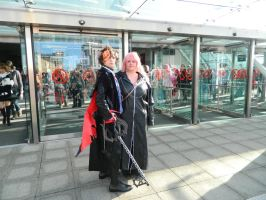 MCM London 2012 Sora and Marluxia by MJ-Cosplay
