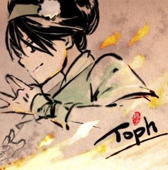 Doodle_Toph vs Fire by kelly1412