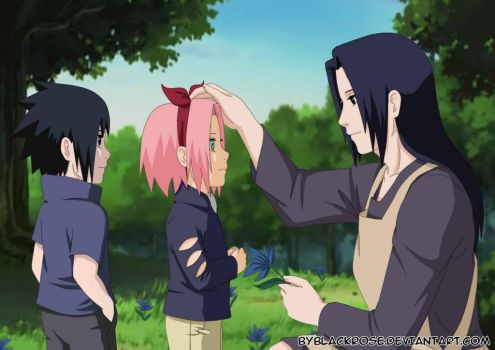 SasuSaku and Mikoto. by byBlackRose