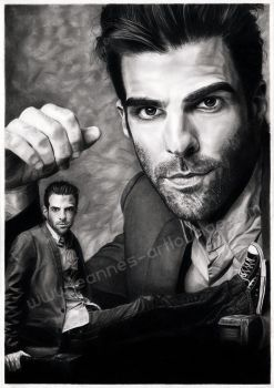 Zachary Quinto by Jeanne-Lui