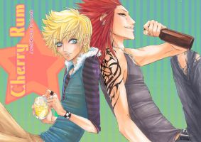 KH: Cherry Rum Doujinshi Cover by Atomic-Clover