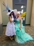 Rarity and Fluttershy! by mieucosplay