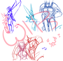 :COMMISSION WIPs: by Kigurou