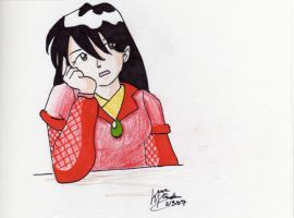Lirael Looking Bored by LauraDoodles