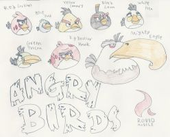 Actual Angry Birds by DatArtistNuma