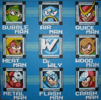 Mega Man 2 Boss Select by Squarepainter