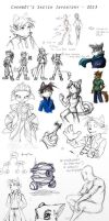 Digital Sketch and WIP inventory 2013 by chemb0t