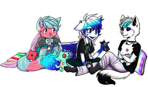Moirails at a Sleepover by MistyMochi