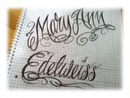 name lettering by smurfpunk
