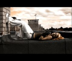 Lieing on the rooftops... by stupidfake