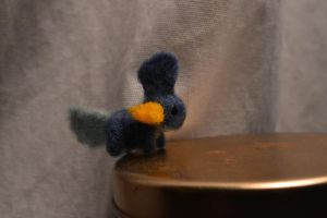 Needle Felted Mudkip by feltieflaffy