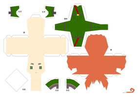 Hetalia Papercraft - Northern Ireland by Prussia-Awesome-Gil