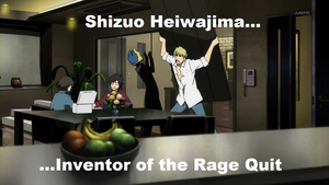 Shizuo Rage Quit by thenumba1spaz