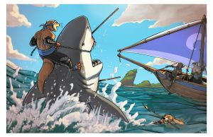 BWD: Shark Hunters by Kobb