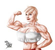 Tina Willians (Repost) by The-Muscle-Girl-Fan