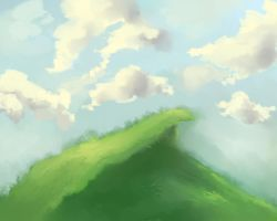 Landscape speed paint practice. by Rag-Dolly