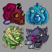 Beastly Heads by mct421