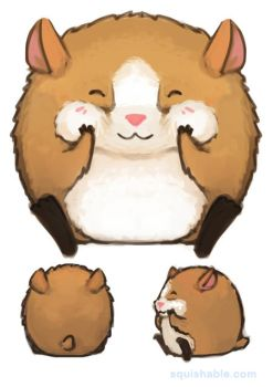 Vote: Squishable Cheeky Hamster Plush! LAST DAY! by Mynxuu