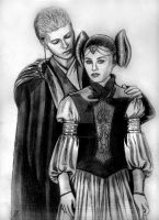 Anakin and padme portrait by acrosstars22