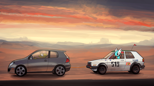 Commission - Two VW Golfs by Dori-to