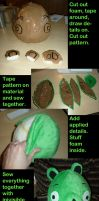 TUTORIAL Angry Birds Plush Pig by luthien368