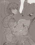 Hiccup and Toothless by azzai