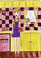 miss Bake-a-lot by chiliphili