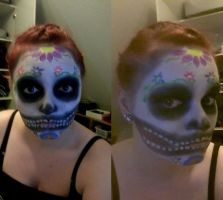 Another try at sugar skull by JuriJoh
