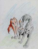 Wolf family -request- by MelNocturne