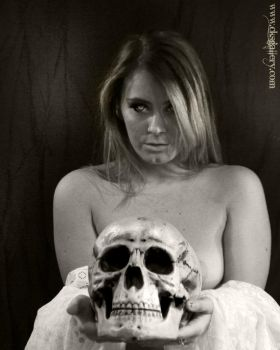 Model with Skull Nude 2 by Chuck-K