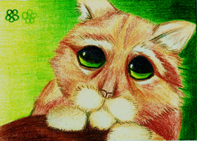 Art Crossing 5: Puss in Boots ACEO by Lucky101212