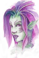 A Female Sylvari by quadtrofang