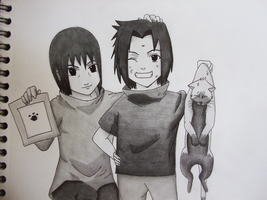 Itachi and Sasuke in the old times by GR-the-queen