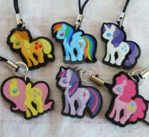 My Little Pony Mane 6 Charm Set by ChibiWorks