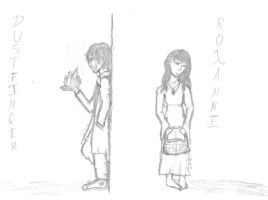 Dustfinger and Roxanne: A World Apart by Lil-Treaty