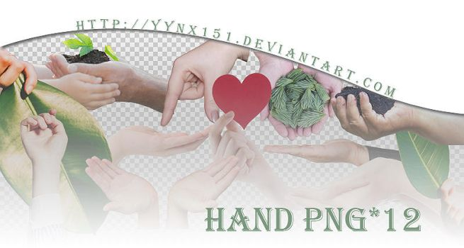 Hand png pack #01 by yynx151
