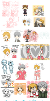 draw ALL the souji/yosuke by MewGlaceon