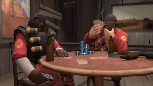 Poker with Demoman by TFSoldier