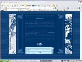 forever blue: webpage layout by Utentsu