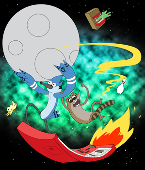 Threadless Regular Show Tee Shirt Design by ChristiVivar