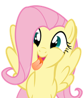 Fluttershy Likes Glass by Glitched-Nimbus
