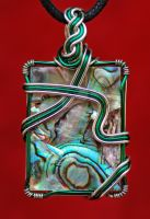 Abalone in Green and Silver by MorrighanGW