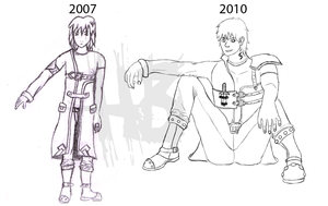Chris Progress 2007-2010 by Heartless-Bowser