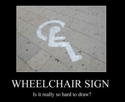 Demotivation - wheelchair sign by pallottili
