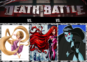 Triple Death Battle: Girls with strong hairstyles by Austria-Man